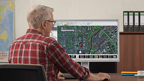 Highly precise monitors to display maps and geographic data